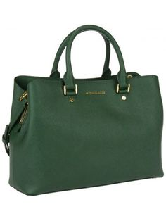 Shoulder Bag for Women On Sale, Savannah, Moss Green, Leather, 2017, one size Michael Kors