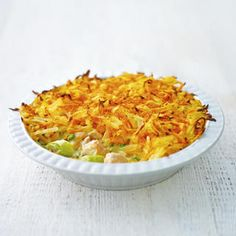 Rosti-topped salmon pot pie, a delicious recipe from the new Cook with M&S app. Fish Dishes, Tasty Dishes, Potato Toppings, Fish Pie, Shellfish Recipes, Pot Pie, Salmon Recipes, Main Meals, Great Recipes