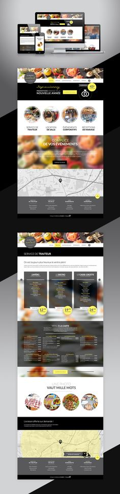 Design web - salle de réception et traiteur Web Design, Catering Business, Design Web, Site Design, Website Designs