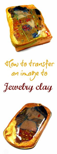 jewelry clay pendant transfer tutorial using Print N Press transfer sheets and topped with resin Polymer Clay Projects, Polymer Clay Creations, Polymer Clay Beads, Crea Fimo, Resin Jewelry, Jewlery, Cat Jewelry, Diy Jewellery, Jewelry Ideas
