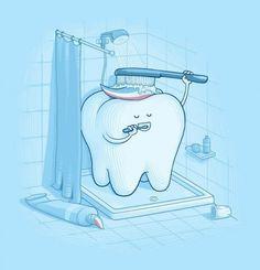el baño de un diente