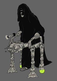 Imperial Walker.  Love the tennis balls, practical.
