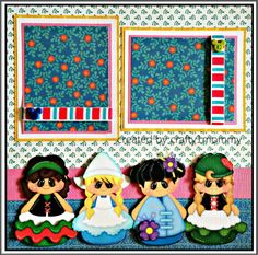 Small World-r Cute idea, but instead of these you can use the Dress Up Paper Dolls cricut