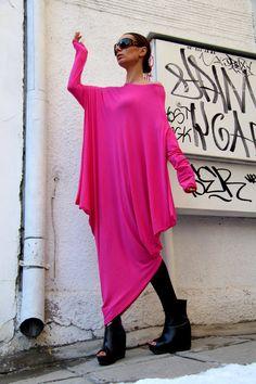 Oversized Candy Pink Loose Casual Top / Kaftan / от Aakasha, $79.00
