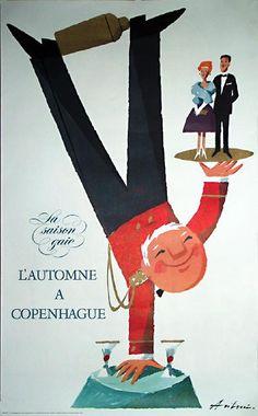 Vintage Danish poster - Autumn in Copenhagen
