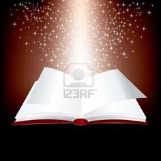 open red book with stars inside