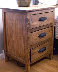 Ana White | Reclaimed Wood Look Bedside Table - DIY Projects