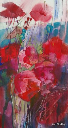 Flowers painting abstract watercolor poppies 34 new Ideas Watercolor Poppies, Watercolor Artists, Abstract Watercolor, Watercolor Paintings, Abstract Art, Watercolours, Portrait Paintings, Indian Paintings, Watercolor Portraits