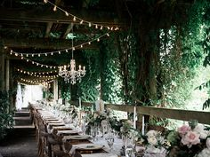 UBC Contemporary Lawn & Arbour is the perfect place for a long tabel dinner . Made extra special with the twinkling of our cafe lights a crystal chandeliers.
