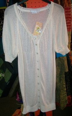 NWT~ TO THE MAX Azria Sz S Cream Long Cardigan Sweater ~ New $78 #TotheMax #KnitTop