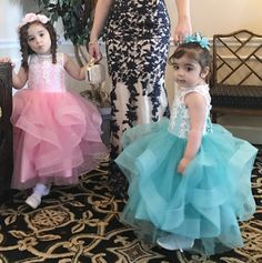 Thanks to one of our lovely customer who sent us beautiful picture.  #flowergirldresses #girlyshopjuniorbridesmaidgown #juniorbridesmaidgown #pinkflowergirldress #mintflowergirldress #babygirlbirthdayoutfit