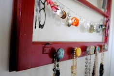 Vintage Window Jewelry Holder!