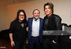 NHL Commissioner Gary Bettman (C), Robby Takac (L) and Johnny Rzeznik of the Goo Goo Dolls attend the 2018 Bridgestone NHL Winter Classic New Year's Eve Bash at Hammerstein Ballroom on December 31, 2017 in New York, New York.