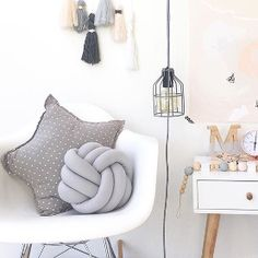 Knot cushions for kids rooms