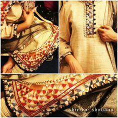 Phulkari work with bling!