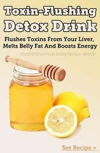 Here's the simple recipe for my favorite detox drink: 10 oz. Water 1 tbsp. Honey 2 tbsp Lemon Juice 1/4 tsp. Turmeric.