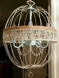 Shabby chic light, shabby chic chandelier, round chandelier, round light https://www.etsy.com/listing/265335377/orb-chandelier-crystal-chandelier-round