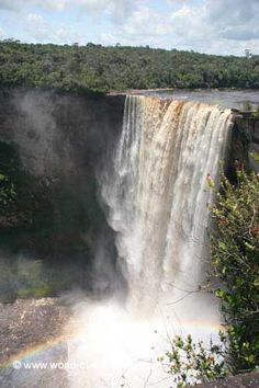 Kaieteur Falls is part of the Potaro River which is in Guyana,as to say, it is in South America. Laerke