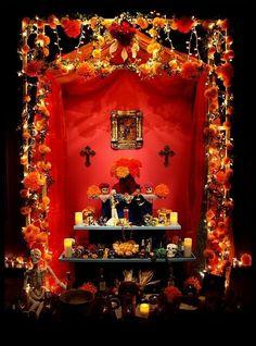 Altar del dia de muertos.