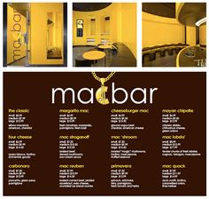 Mac Bar, NYC...I must go here when I go to NYC!