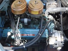 "Mopar Poly-Head ""A"" - '318' - 2x4 Barrel Carburetor Intake."