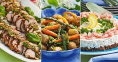 Lättlagad buffé till sommarens alla fester recept | Allas Recept Cobb Salad, Green Beans, Tapas, Food And Drink, Vegetables, Recipes, Student, Party Ideas, Vegetable Recipes