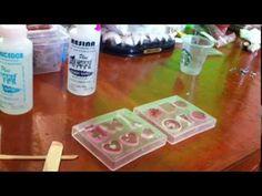 como hacer piezas con recina y moldes flexibles (parte1) - YouTube