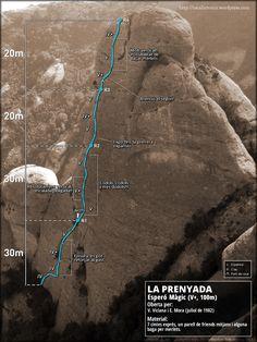 La Prenyada (Montserrat) ESPERÓ MÀGIC (V+ 100m)
