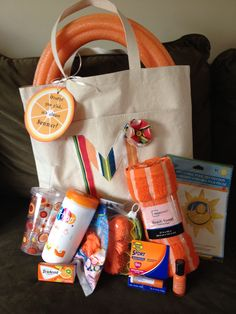 Orange you glad it's almost summer!  Gift tote for teacher