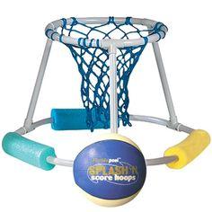 Figure 5 Floating Basketball Hoop 243x300 DIY Ideas Pool Basketball