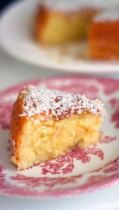 Kostea kookoskakku | Maku Baking Recipes, Cake Recipes, Finnish Recipes, Bakewell Tart, Cake Business, Something Sweet, Sweet Bread, Yummy Cakes, Vanilla Cake