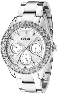 Fossil Women , Fossil Women's ES2860 Stainless Steel Analog with Silver Dial Watch