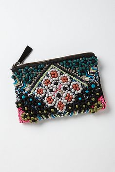 Tacuba Pompom Pouch From anthropologie.com