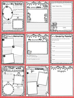 End of the Year Memory Book {A Year of Memories} The perfect keepsake and a FANTASTIC way to end the school year.