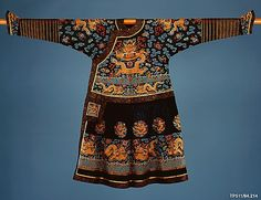 Official silk robe of State (dragon robe) 19th century, Qing Dynasty, China.