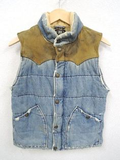 VEST !! | SAFARI(サファリ)のブログ Sherpa Denim Jacket, Vest Jacket, Fashion Details, Men's Fashion, Workwear, Vests, Blue Jeans, Blazers, Trending Outfits