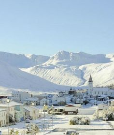 Siglufjörður, Iceland This fishing village in Iceland becomes a snow-covered beauty in winter. Talk about a winter wonderland.