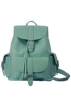 ROMWE | Magnetic Button Multi-pockets Mint Green Backbag, The Latest Street Fashion @ROMWE #romwe