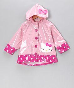 Pink Hello Kitty City Raincoat #zulily