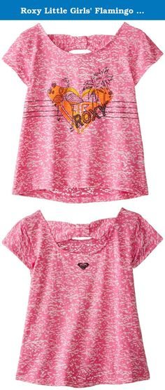 Roxy Little Girls' Flamingo Tee, Rose Violet, 3. Roxy little girl flamingo tee.