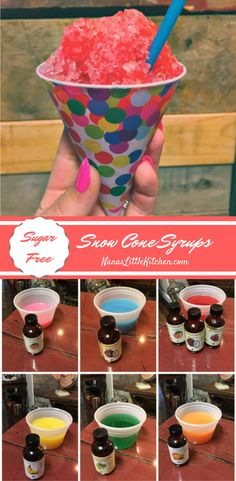 These Simple Sugar Free Snow Cone Syrups will have you enjoying this no-cook treat with your protein rich snacks and meals in no time this summer season!