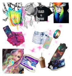 """""""🦄"""" by p0livore ❤ liked on Polyvore featuring Boohoo, Converse, HVBAO, WithChic and Casetify"""