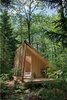 seminars & private dinners — Stedsans in the Woods Tiny Cabins, Tiny House Cabin, My House, A Frame Cabin, A Frame House, Cabin Design, Tiny House Design, Backyard Studio, Backyard Cabin