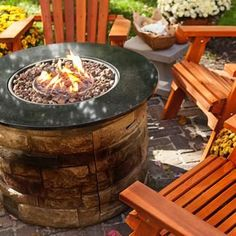 Propane and natural gas produce a steady flame with no need for stoking and no messy cleanup. Propane Patio Fire Pit, Outdoor Propane Fireplace, Natural Gas Patio Heater, Tabletop Patio Heater, Fire Pit Accessories, Wood Burning Fires, Landscaping Supplies, Fire Pits, Fire Table