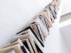 Libreria a giorno a parete in metallo WALL PTOLOMEO by Opinion Ciatti | design Bruno Rainaldi