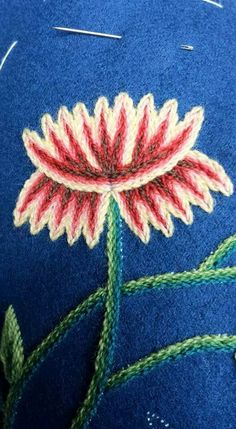 Blomst Crewel Embroidery, Needle And Thread, Norway, Sewing Crafts, Elsa, Textiles, Knitting, Motifs, Drawings