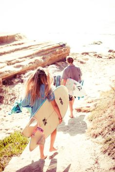 the beach & surf is all i need.