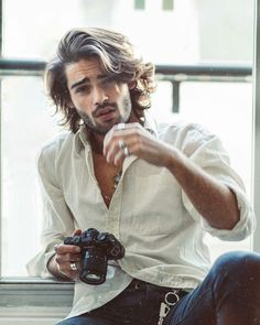 40 Coolest Long Hairstyle For Men – Men's Hairstyles and Beard Models Hair And Beard Styles, Curly Hair Styles, Mens Long Hair Styles, Men Long Hair, Mens Hair, Hair Style For Men, Boys With Long Hair, Poses For Men, Boy Hairstyles