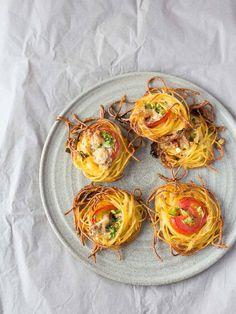 Gastbeitrag von culinarypixel: Spaghetti-Nester mit Blauschimmelkäse & Tomaten - Colors of Food
