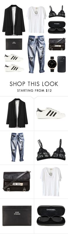 Zero Effort by fashionlandscape on Polyvore featuring American Vintage, Band of Outsiders, adidas Originals, Proenza Schouler, Acne Studios, Olivia Burton, Chanel, OneTeaspoon and Samsung